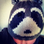 The racoon hat.