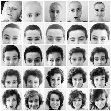 hair timelapse